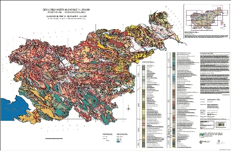 Geological map of Slovenia 1 : 250.000