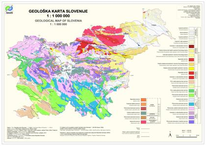 Geological Map of Slovenia 1 : 1.000.000