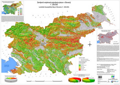 Landslide susceptibility map of Slovenia 1: 250.000