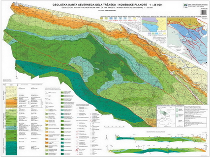 Geological map of the northern part of the Trieste-Komen plateau 1: 25.000