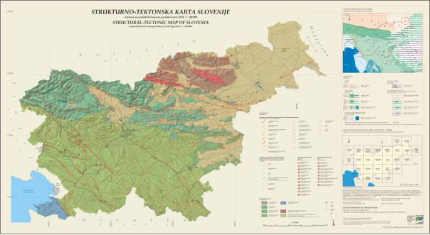 Structural-tectonic map of Slovenia 1: 250.000